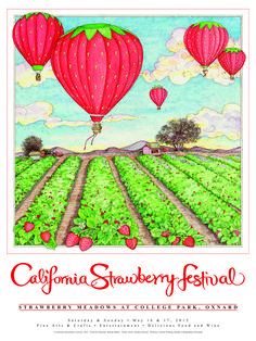 Local Artist Wins Official Poster California Strawberry Festival Contest