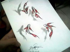 3d fish drawing