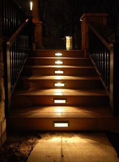 Inspirational Deck Stairs Lighting Ideas