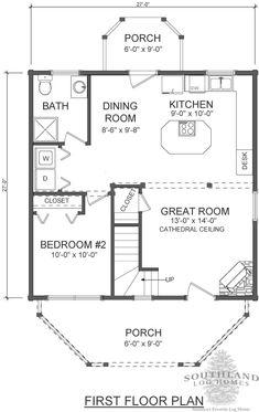 Salem Log Cabin Floor Plan   Southland Log Homes
