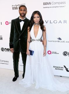 "The Fashion Court on Twitter: ""Jhené Aiko wore a #TadashiShoji Spring 2017 embroidered gown to Elton John's Oscar Viewing Party. #Oscars https://t.co/gdIKGAErhJ @JheneAiko https://t.co/ocgvePZdEy"""