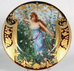 "125: Royal Vienna 10"" Portrait Plate After Bluthen Roya : Lot 125"