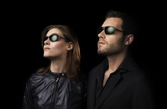Shapes of the past, technology of the future - Scanners are Parasite sunglasses with retro-futuristic style: They are made of steelskin, with vintage shapes and thin lines engraved in the metal on several parts of the frame.