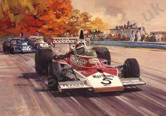 Art Through The Ages, Michael Turner, Race Tracks, Car Drawings, Automotive Art, Sports Art, Car Wallpapers, Arrows, Grand Prix