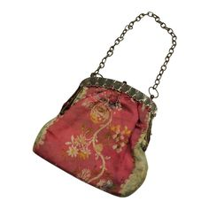 Refined Antique Georgian Purse Steel Frame Woven Silk 1815 from Trinity Antiques Exclusively on Ruby Lane