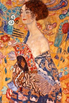 Lady with a Fan by Gustav Klimt