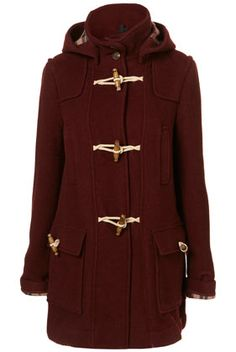 burgundy duffel coat (yay!) sold out of my size (boo!)