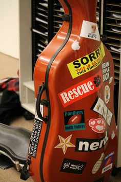 """Cello case; """"Sorry, this is as fast as this thing will go"""""""