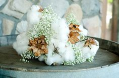 Love the idea of cotton in a bouquet, may not like this, but still :)