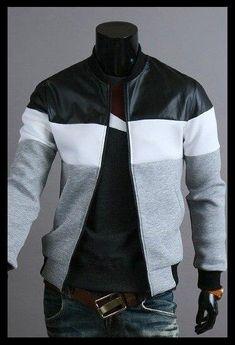 Gray Jacket, Sweater Jacket, Mens Light Jacket, Fashion Wear, American, Urban Fashion, Custom Clothes, Casual Looks, Black Tops