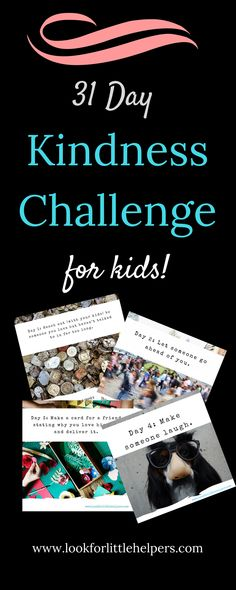 kindness challenge for kids.  Teach kindness to kids, teach your kids to be kind, how to make kind kids.  #kindness