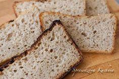 Jeden z moich ulubionych chlebów. Pszenno - żytni z wilgotnym miąższem i chrupiącą skórką. Smakiem przypomina mi chleb z dzieciństwa, który piekła moja babcia w prawdziwym piecu chlebowym, opalanym drewnem. Brakuje tylko tego aromatu drewna ...Pyszny chleb, polecam na pyszne śniadanie w sobotni poranek:) Chleb ukraiński Składniki na zaczyn190 g zakwasu żytniego160 g wody220 g mąki żytniej 720Składniki na ciasto właściwe400 g mąki pszennej chlebowej95 g mąki pszennej razowej300 g wody12 g ... Banana Bread, Baking, Desserts, Brot, Tailgate Desserts, Deserts, Bakken, Postres, Dessert