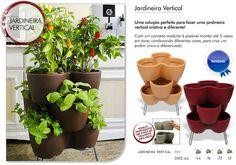 Horta em casa - Vaso e ferramentas para jardim: Jardineira vertical para plantar ervas.