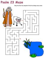 Psalm 23 games and activity pages