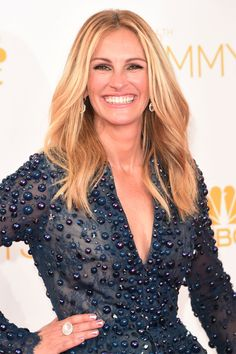 Julia Roberts wearing a One of a Kind Ring with Blue Moonstone and Diamond Pave