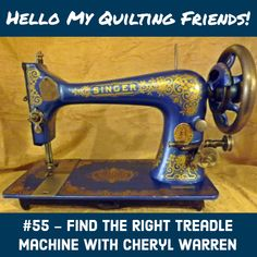 Getting Bit by the Treadle Bug - Free Motion Quilting Project Sewing Machines Best, Treadle Sewing Machines, Sewing Machine Reviews, Antique Sewing Machines, Free Motion Quilting, Hand Quilting, Arm Machine, Sewing Patterns Free, Sewing Ideas