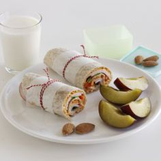 Madpakke med wrap til børn 3-6 år Carne Asada, Lunch Time, Picnic, Wraps, Brunch, Barn, Snacks, Food And Drink, Cooking