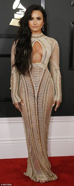 Bronzed beauty: Demi