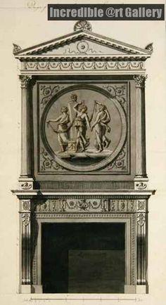 Headfort House Eating Parlor, Chimney Piece by Robert Adam.