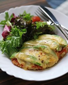 Avocado Chicken Parmigiana..anything avocado is Okay by me :)