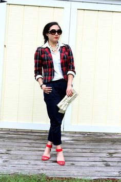 { preppy plaid look }