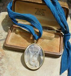 Bohemian Czech Intaglio Fairy Silk Necklace by WillowBloom on Etsy