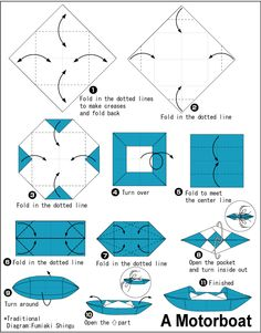 DIY paper folding - paper boat with 2 sails -----LetusDIY. Origami Boot, Origami Folding, Origami Fish, Paper Folding, Origami And Kirigami, Paper Crafts Origami, Oragami, Origami Instructions, Kayaking