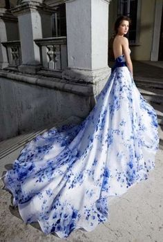 62 Ideas wedding dresses mermaid blue bridal gowns for 2019 Rustic Wedding Dresses, Wedding Dresses Plus Size, Royal Blue Wedding Dresses, Unique Colored Wedding Dresses, Blue Weddings, Casual Wedding, Mermaid Dresses, Prom Dresses, Blue Dresses