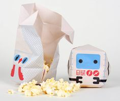 Piñata Popcorn Packaging Concept by Nicolas Ménard