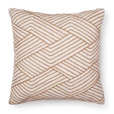 Beige on cream means neutral tones reign with the Cream Geometric Decorative Pillow from Threshold. This square accent pillow uses texture in its embroidered linear design to bring the action.