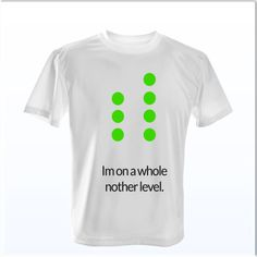 """This shirt is saying """"I'm on a whole nother level"""" referring to the mixing desk and the skill set!"""
