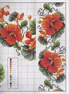 Gallery.ru / Фото #3 - 30 - kento Cute Cross Stitch, Cross Stitch Flowers, Cross Stitch Charts, Cross Stitch Patterns, Cross Stitching, Cross Stitch Embroidery, Hibiscus, Needlepoint, Needlework