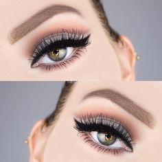 Charmed Makeup Look by itsgenesys. Makeup Geek Eyeshadows in Poppy, Cocoa Bear, Mocha, Charmed, and Shimma Shimma. - Make Up Forever Makeup For Grey Dress, Grey Eye Makeup, Eye Makeup Cut Crease, Makeup For Green Eyes, Eye Makeup Tips, Smokey Eye Makeup, Diy Makeup, Beauty Makeup, Makeup Ideas