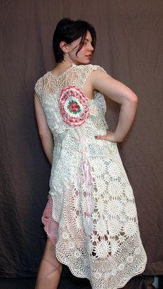 Vintage Floral  Doily Dress by askewasyou on Etsy, $78.00