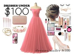 """Dresses Under $100 Contest"" by lifestyle1duckling ❤ liked on Polyvore featuring Forever 21, Lauren Lorraine, Dune, tarte, ABS by Allen Schwartz, Chantecaille, Elizabeth Arden, Charlotte Tilbury, MAC Cosmetics and Hourglass Cosmetics"