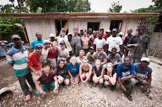 Last day of construction on our Haiti, 2011 mission. We completed the first story of a home in just 12 days! Thanks to the help of our  construction volunteers, wonderful Haitian locals and even some of our medical team :)