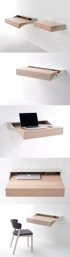 Space saving laptop table.