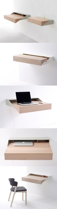 #smallspacesideas #hiddenthingsideas Space saving laptop table.