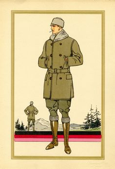 1920s men's fashion illustration