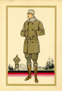 1920s men's fashion illustration