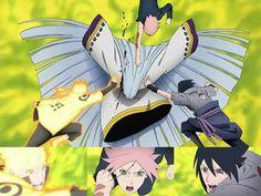 Kaguya, Naruto, Sakura, Sasuke, Team 7