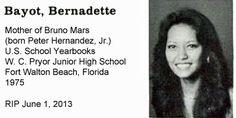 Bernadette Bayot, mother of Peter Hernandez, Jr. a.k.a. Bruno Mars. #bruno #mars #brunomars #celebrities