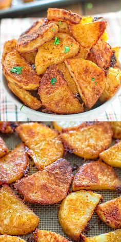 These tasty Parmesan Crusted Potatoes are so addictive, that you won't be able to stop eating until you finish them all! FOLLOW Cooktoria for more deliciousness! #potatoes #sidedish #dinner #lunch #vegetarian #easyrecipe #cooktoria