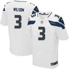 Mens White Nike Elite Seattle Seahawks http://#3 Russell Wilson NFL Jersey $129.99