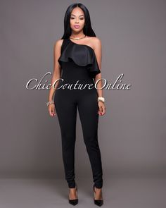 Chic Couture Online - Bethesda Black One Shoulder Jumpsuit.(http://www.chiccoutureonline.com/bethesda-black-one-shoulder-jumpsuit/)
