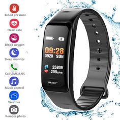 02a6dad20e4a Fitness Tracker Heart Rate Monitor Watch Blood Pressure Activity Tracker  Waterproof Smart Wristband for Kids Women