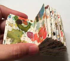Items similar to Little Hand Bound Watercolor Artist Book on Etsy - This is a very small hand made book bound in a Coptic stitch. The pages are splashed with layers of - Art Journal Inspiration, Sketch Book, Artist Books, Sketchbook Journaling, Book Design, Art Journal, Book Art, Paper Art, Altered Art