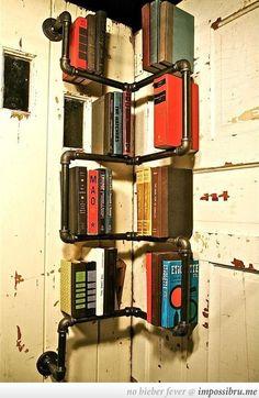 Cool Pipe Bookshelf