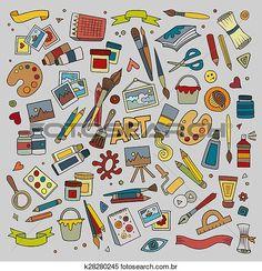 Clipart - arte artesanato, vetorial, símbolos, e, objetos k28280245 - Busca de Ilustrações, Clip Art, Desenhos, Ilustrações vetoriais e video clip de animação EPS. - k28280245.eps