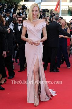Uma Thurman Cannes Film Festival 2017 Red Carpet Evening Dress - TheCelebrityDresses